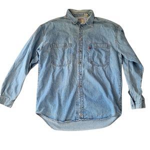 Vintage Levis denim button down shirt